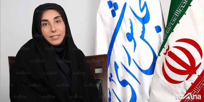 بازدید سکینه الماسی از غرفه خبرگزاری خانه ملت